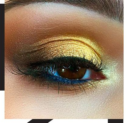 Black and gold makeup: make your eyes sparkle like fireworks